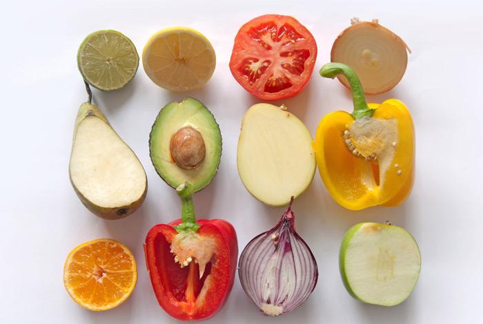 muestra de varios alimentos