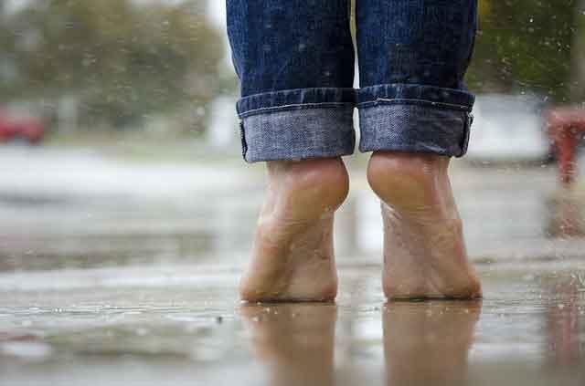 Pies descalzos. Hechos interesantes sobre los pies.